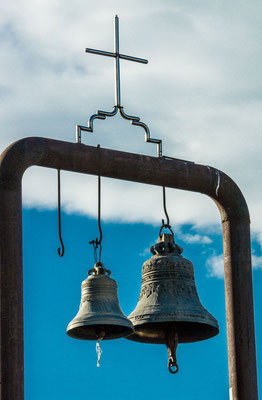 Bells in the courtyard of the Nariqala Church