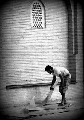 Tashkent, Uzbekistan - Sheet metal worker