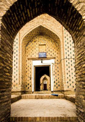 front door of Mozori Sharif madrassah