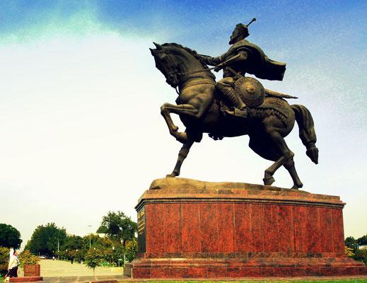 Statue of Temür ibn Taraghai Barlas, known as Amir Temur, the great ruler of Uzbekistan
