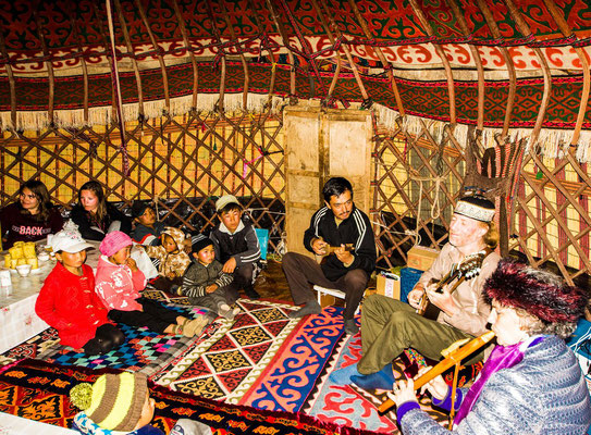 Concert in the yurt
