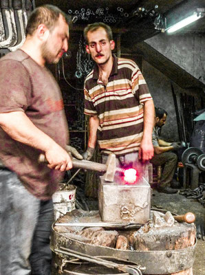 Gaziantep, Kurdistan - Blacksmith in the Zincirli covered market