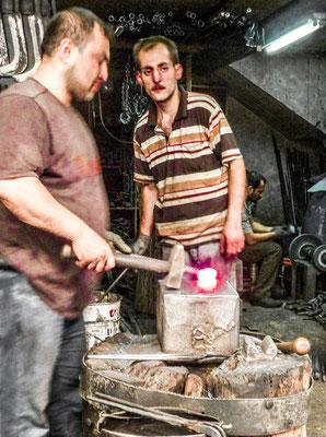 Gaziantep, Kurdistan - Blacksmith in the Zincirli covered market