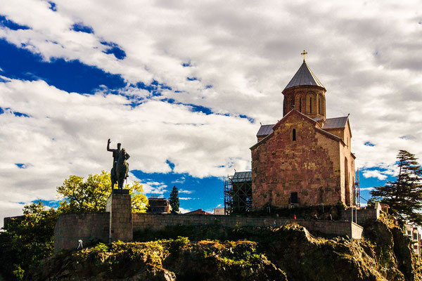 This is where Vakhtang Gorgasali built his palace, and the site's first church, when he made Tbilisi his capital in the 5th century