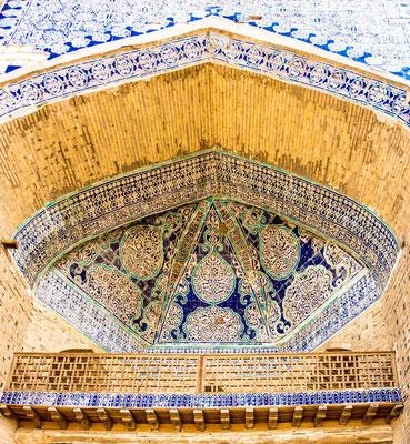 Islam Khoja Madrassah, detail of the mukarnass