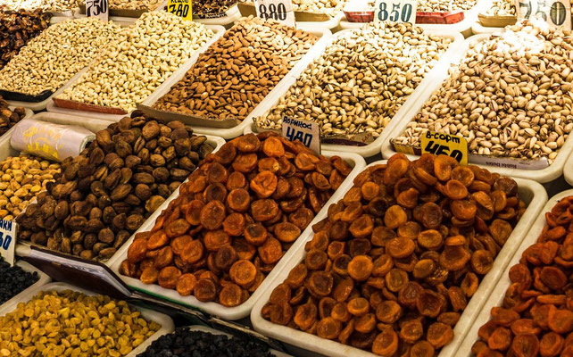 at the bazaar - dry fruits and nuts