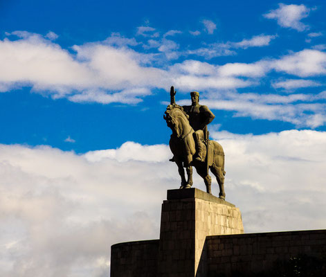 The 1960s equestrian statue of King Vakhtang Gorgasali occupy ....