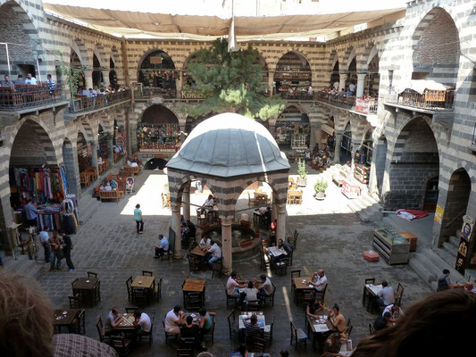 Hasan Pasha Han, a caravanserai now being used by carpet and souvenir shops, as some rustic restaurants