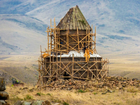 Turkey launched a project to conserve the ancient cathedral and a church in what is seen as a gesture of reconciliation toward neighboring Armenia