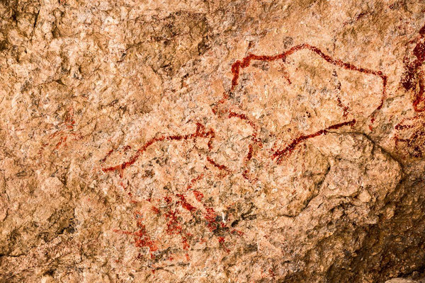 Neolithic cave paintings of Shakhty.