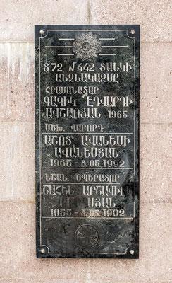 memorial commemorating the capture of Shusha, May 8, 1992