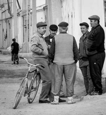Khiva, Uzbekistan - after work talk