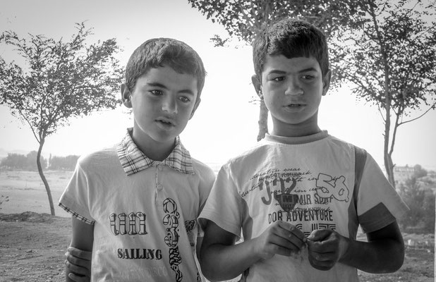 near Malabadi Bridge, Kurdistan - two young Kurds