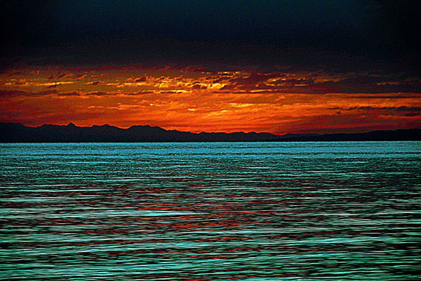 the sun has already set beyond the horizon