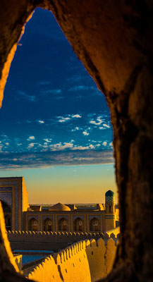 sunset in khiva