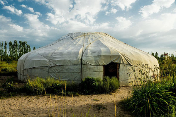 the big yurt where all events are held