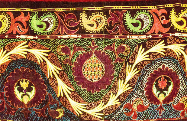 detail of the yurt rug