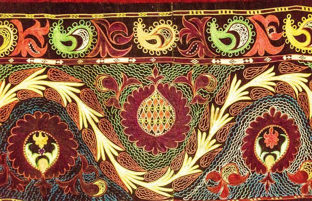 detail of the yurt rug