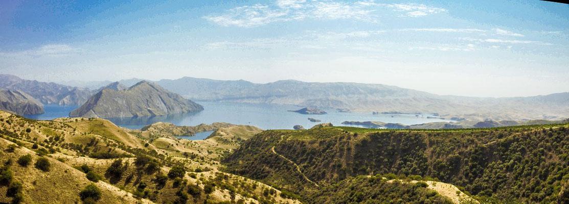 the Nurek reservoir