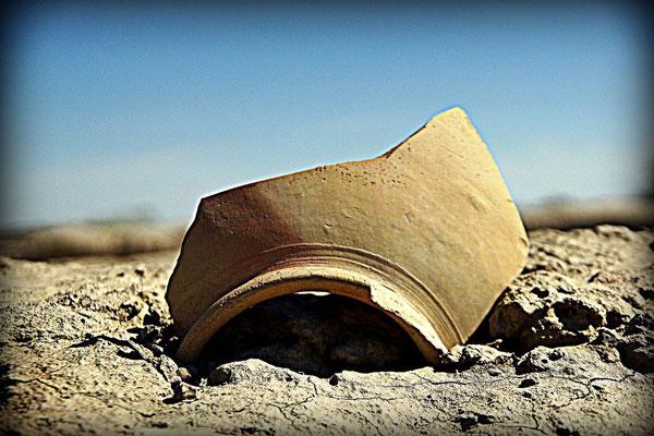 broken clay pot
