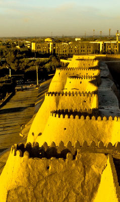 the walls of Khiva