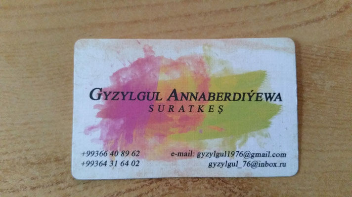 Yes! I met Gyzylgul at her shop, We talked until into the night about art ...