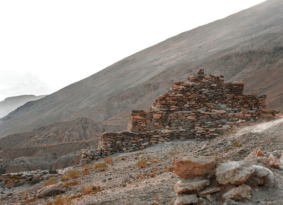 4th Century Buddhist Stupa at Vrang, reminders of the ancient pilgrim caravans that passed through the region.There are a number of these ancient fortresses in the area