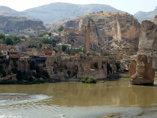 Hasankeyf. ruins of the ancient 12th century capital of the Artutids.