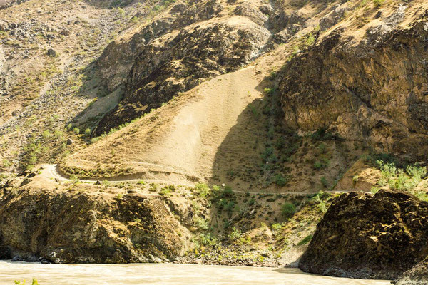 The only slope on the Afghan side