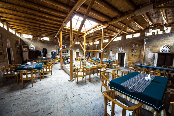 """""""Allakuli-Khan Madrasah"""" Art Restaurant, housed in Allakuli-Khan Madrasah (19th century) The traditional Khorezm style makes this madrasah one of the best examples of Khorezm architecture, so the restaurant inside is quite an impressive place to visit"""
