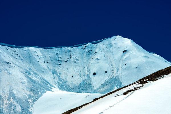 The line of the ridge