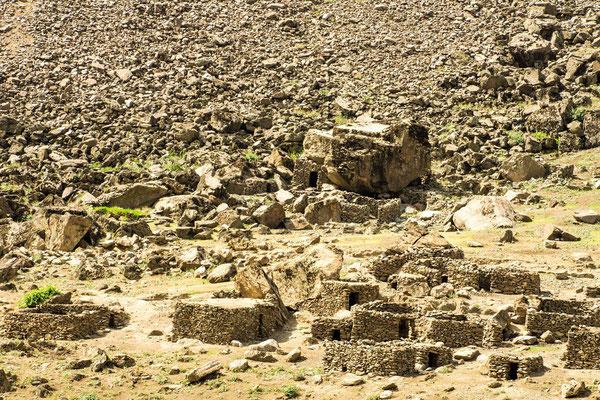 Earthquake destroyed Afghan village