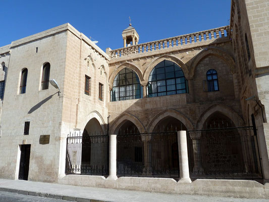 on the main street the newly restored Keldani Kilise (Chaldean Church) is easily spotted but usually locked