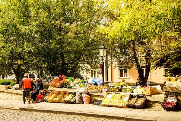 A street fruit market