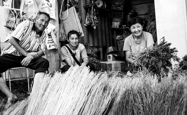 Osh, Kirgistan - brushwood broom shop