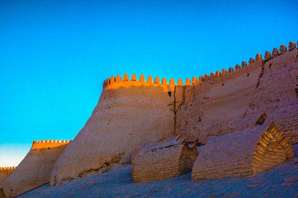 the walls at sunset