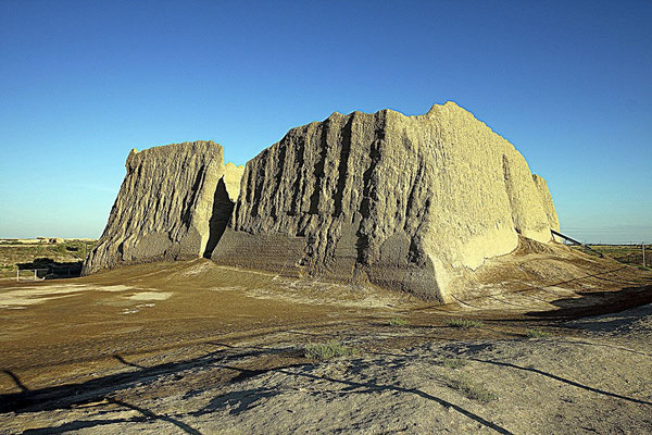 """Kyz Kala (or Gyzgala) is Turkmen for """"maiden's fortress"""""""