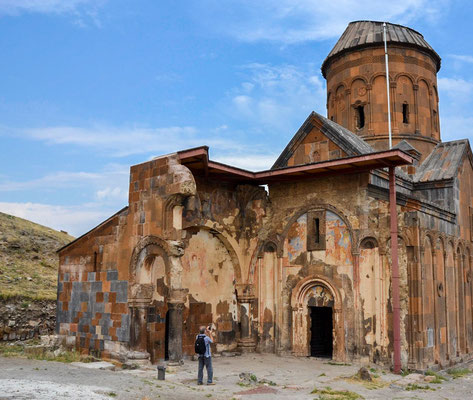 The ruin of the Church of Saint Gregory of Tigran Honents on the edge of the border with Armenia