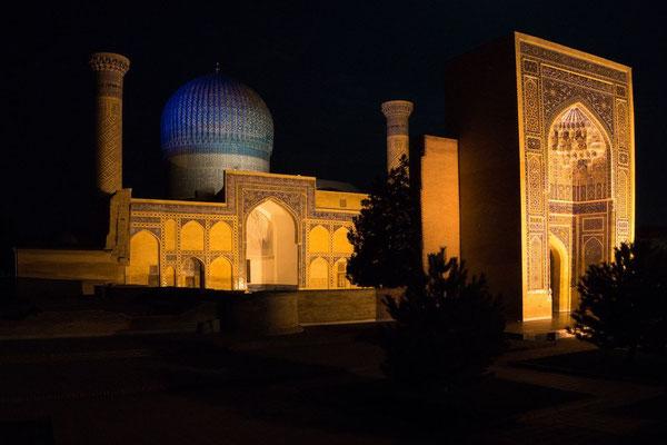 Gur-e-Amir Mausoleum at night
