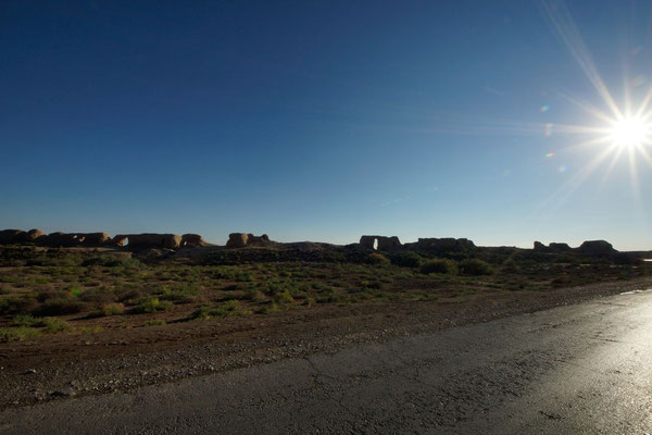 walls of of the massive Seljuk city Soltangala, or Sultan's Fortress, the largest of Merv's 5 ancient walled cities