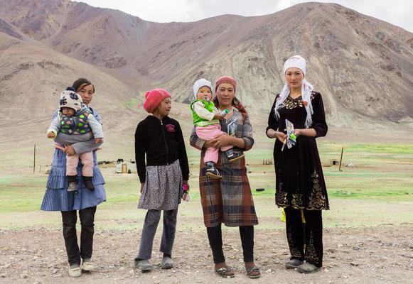 Family on the Pamir Highway  near Murghab