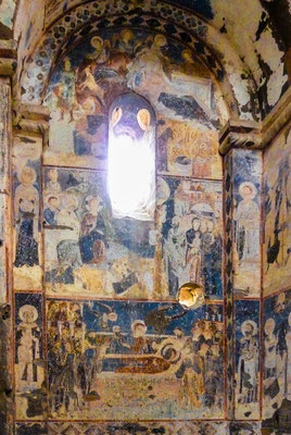 Damaged frescoes of the church of St Gregory of Tigran Honents