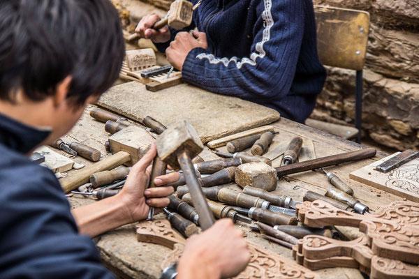 Young craftsmen at work