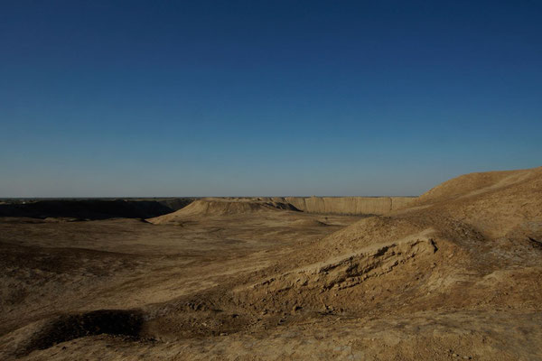the massive walls of the Erk Kala were over 25m tall