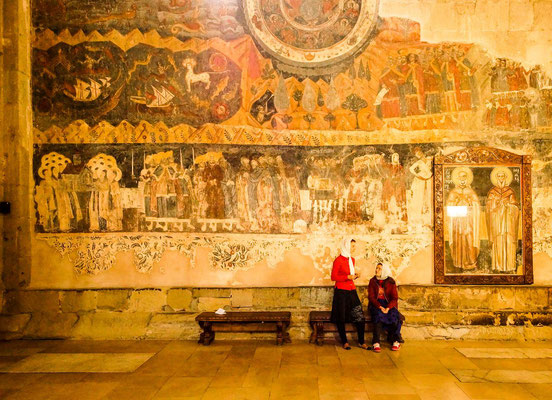 One of the frescoes of the Svetitskhoveli Cathedral