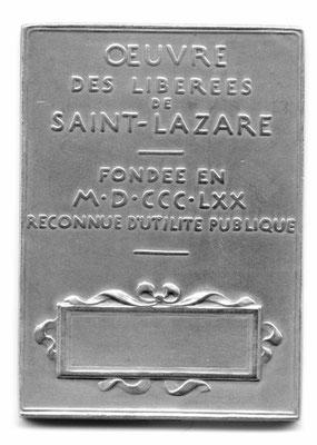 Oscar Roty: Oeuvre des libérées de Saint-Lazare