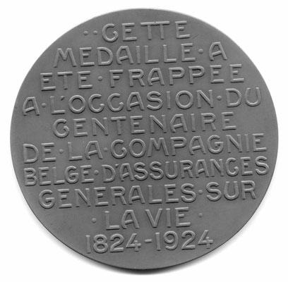 Godefroid Devreese: Centenaire de la Compagnie belge d'Assurances générales sur la vie