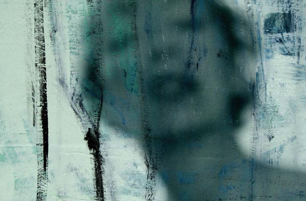 Bildinhalte - Acrylbild und Fotografie - Titel: Schneespüren