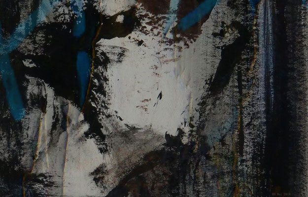 Am Fluchtpunkt (Montage aus Fotografie und Acrylmalerei)