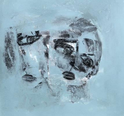 Mutter und Kind (Tusche und Acryl, 20 x 20 cm)